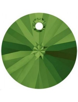 pendentif rond xilion 1trou 8mm dark moss green