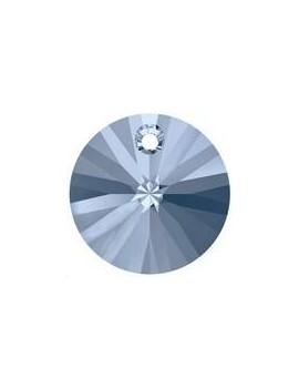 Pendentif rond xilion 1trou 8mm Denim blue