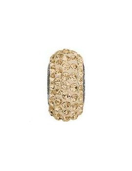 Perle Becharmed pavé 13.5mm crystal golden shadow