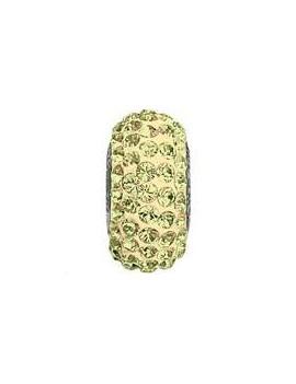 Perle Becharmed pavé 13.5mm crystal luminous green