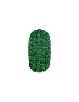 Perle Becharmed pavé 13.5mm emerald