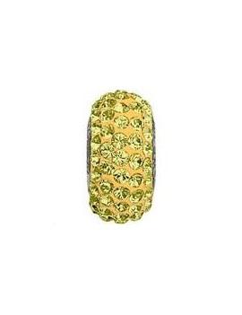 Perle Becharmed pavé 13.5mm jonquil