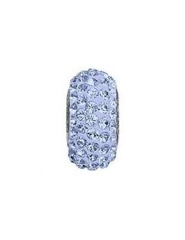 Perle Becharmed pavé 13.5mm light sapphire
