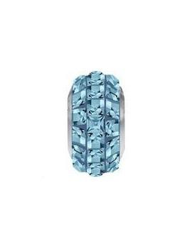 Perle Becharmed pavé 13 mm aquamarine
