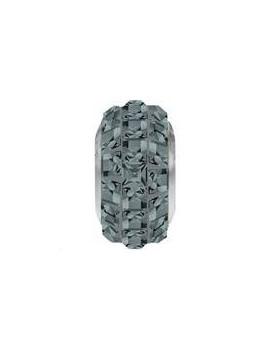 Perle Becharmed pavé 13mm black diamond