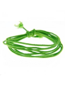 Fashion cord diamètre 0,8mm vert fluo vendu au mètre