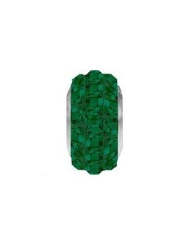 Perle Becharmed pavé 13mm emerald