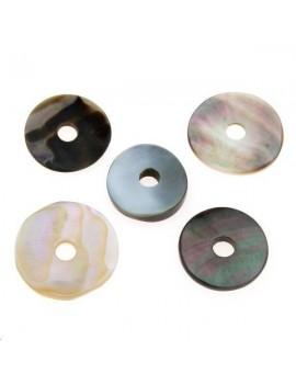 Nacre noire donuts 15-20mm