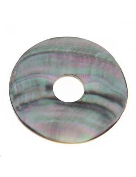 Nacre noire donuts 36-40mm
