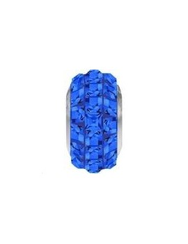 Perle Becharmed pavé 13mm sapphire