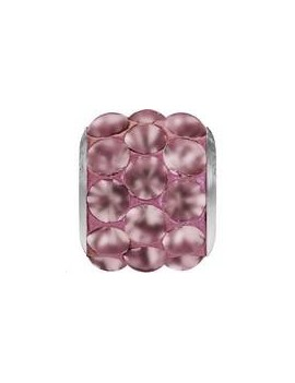 Be charmed pave / steel 9x10mm crystal antique pink mat
