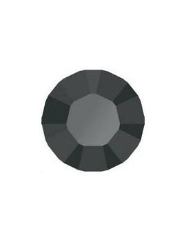 Lot 50 pièces strass plat à coller 2mm (SS6) jet hematite unfoiled