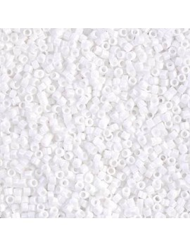 Delica Miyuki 11/0 white vendue par dose d'environ 8 gr