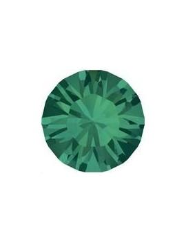 Lot 50 pièces strass plat à coller 2,8mm (SS10) emerald foiled