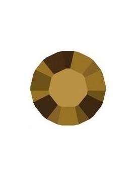 Lot 50 pièces strass plat à coller 3,2mm (SS12) crystal dorado foiled