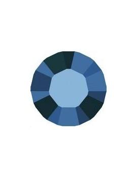 Lot 50 pièces strass plat à coller 3,2mm (SS12) crystal metallic blue foiled