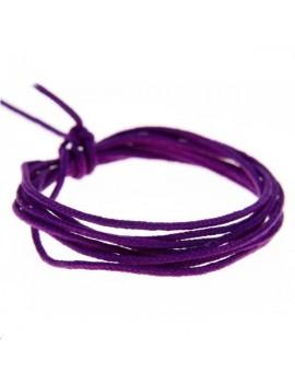 Fashion cord diamètre 0,8mm violet vendu au mètre