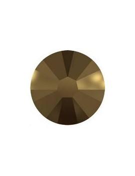 Lot 50 strass plats à coller 1,8mm Xilion rose (SS5) crystal dorado foiled