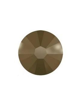 Lot 50 strass plats à coller 1,8mm Xilion rose (SS5) crystal metallic light gold foiled