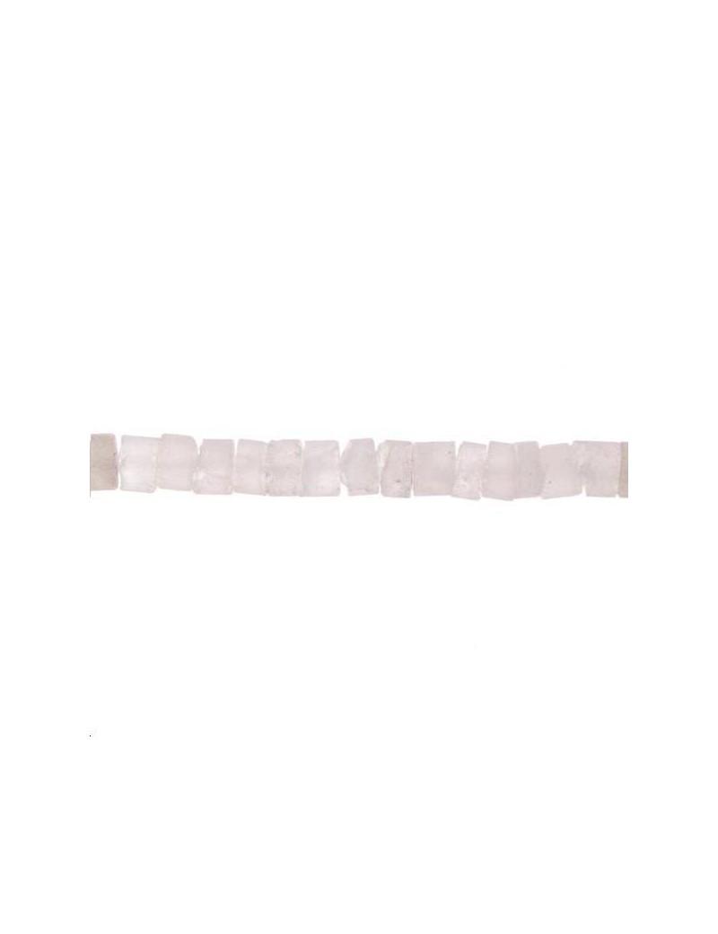 Cristal de roche rondelle 10mm brut lot de 3cm (environ 3 perles)