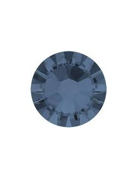 Lot 50 strass plats à coller 1,8mm Xilion rose (SS5) denim blue foiled