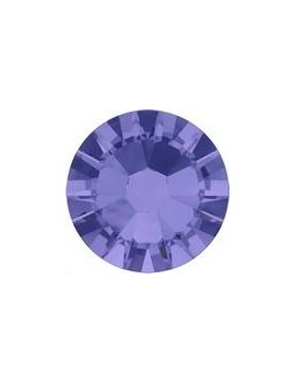 Lot 50 strass plats à coller 1,8mm Xilion rose (SS5) tanzanite foiled