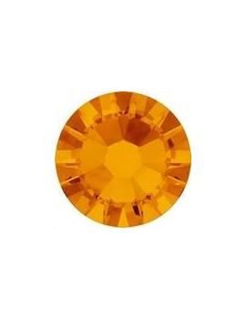 Lot 50 strass plats à coller 1,8mm Xilion rose (SS5) tangerine foiled