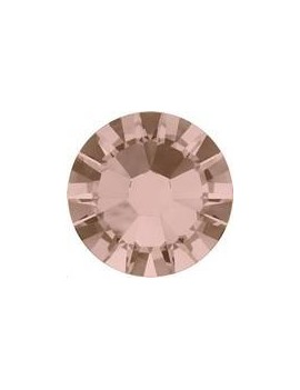 Lot 50 strass plats à coller 1,8mm Xilion rose (SS5) vintage rose foiled