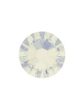 Lot 50 strass plats à coller 2,6mm Xilion rose (SS9) white opal foiled