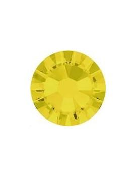 Lot 50 strass plats à coller 2,6mm Xilion rose (SS9) yellow opal foiled