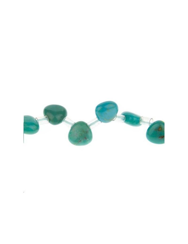 Turquoise triangle 6x6x4mm grade A+ lot de 2 pièces