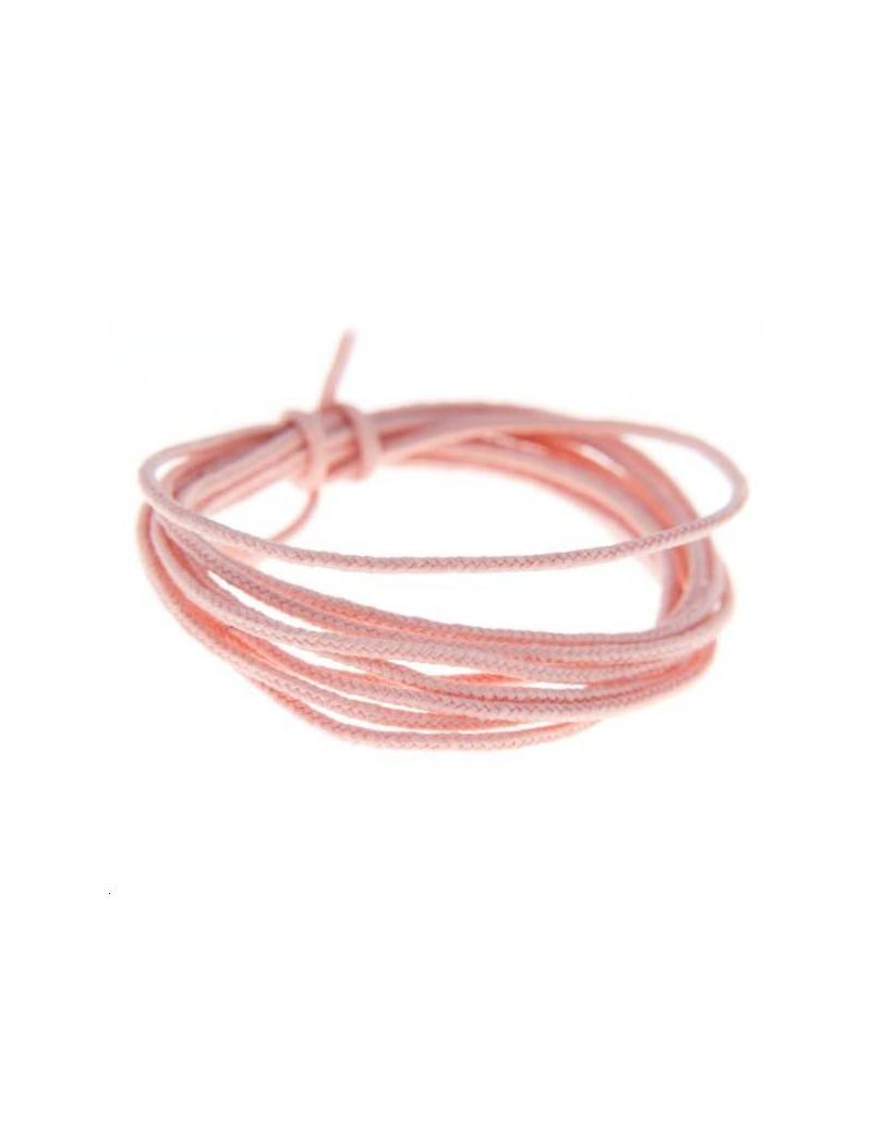 Fashion cord diamètre 0,8mm vieux rose vendu au mètre