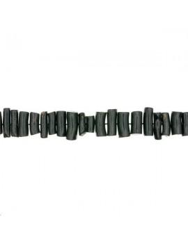 Corail naturel branche 20x6mm noir lot de 2 pièces
