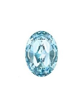 Cabochon oval 10X8mm Aquamarine foiled
