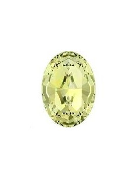 Cabochon oval 10X8mm Jonquil foiled