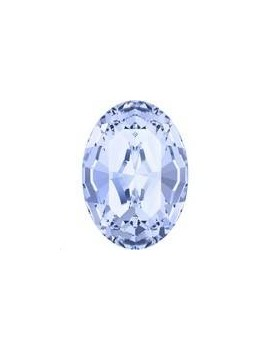 Cabochon oval 10X8mm light sapphire foiled