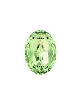 Cabochon oval10X8mm Peridot foiled