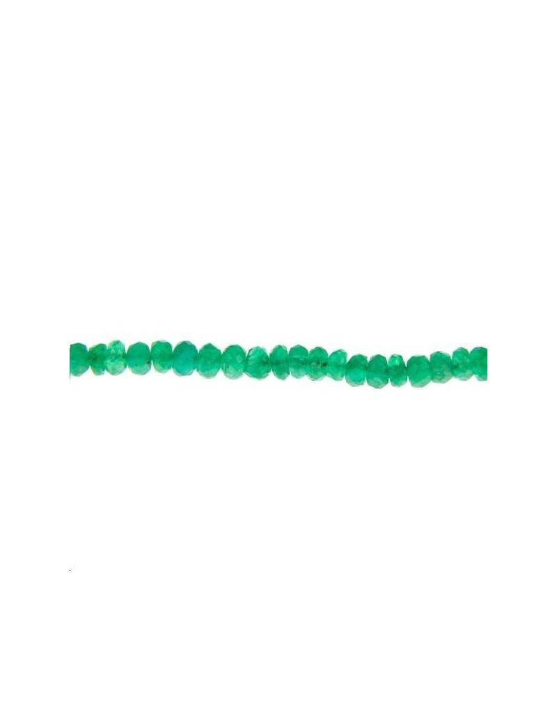 Emeraude caillou 2,5mm lot de 2cm (environ 8 perles)