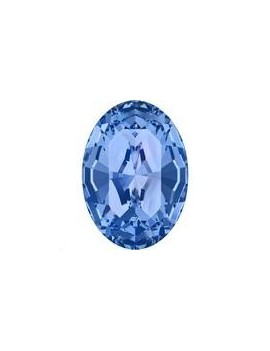 Cabochon oval10X8mm Sapphire foiled