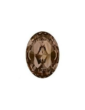 Cabochon oval10X8mm Smoked topaz foiled