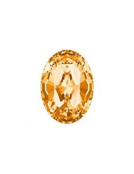 Cabochon oval 10X8mm Topaz foiled