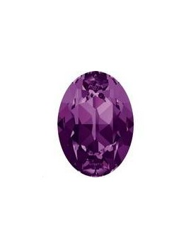 Cabochon 18X13mm Amethyst foiled