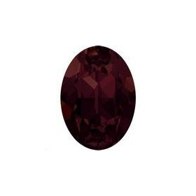 Cabochon oval18X13mm Burgundy foiled