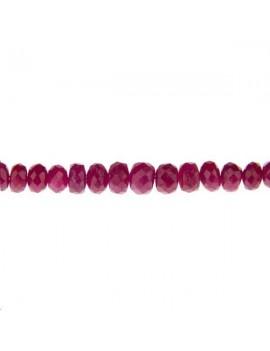 Rubis rondelle facettes 2-4mm lot de 2cm (environ 8 perles)