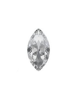 Cabochon navette 32x17mm crystal foiled