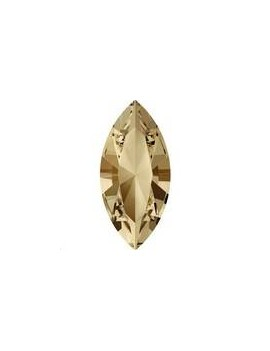 Xilion navette 15x7mm crystal golden shadow foiled