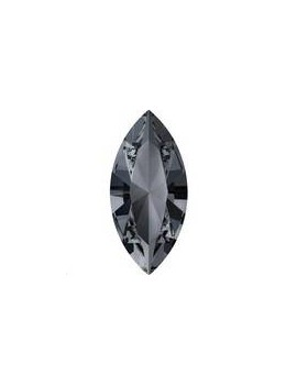 Xilion navette 15x7mm crystal silver night foiled