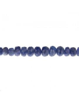 Saphir rondelle facettes 2,5-4mm bleu lot de 2cm (environ 6 perles)
