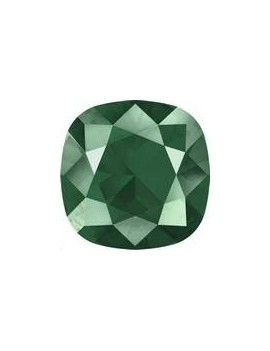 Cabochon carré 10mm crystal royal green unfoiled