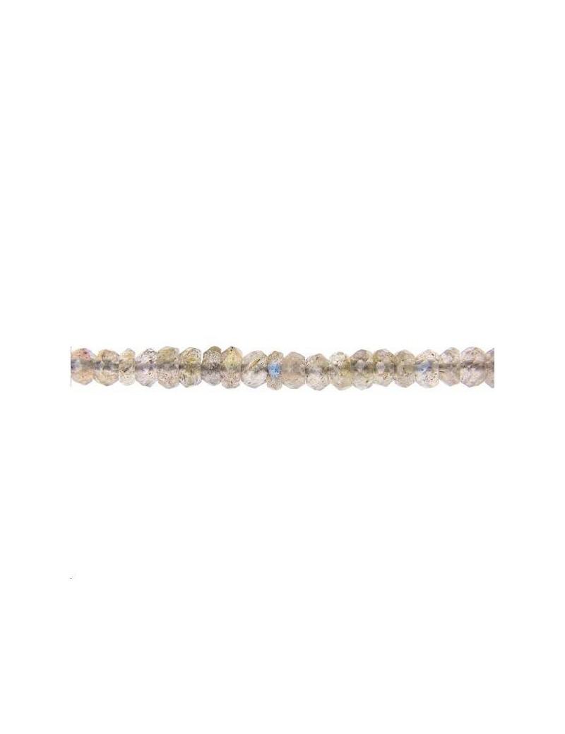 Labradorite rondelle facettes 3mm lot de 4cm (environ 12 perles)